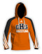 Sublimated Orange Adidas Hoodie aA400hs