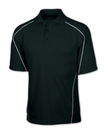 Black/White Tonix Warrior Polo Shirt #1120