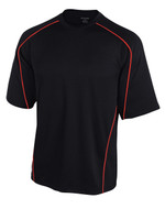 Black/Scarlet - Tonix Courage Performance Short Sleeve Tee #1220