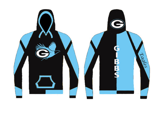 custom hoodie sublimated WarriorSport #1201