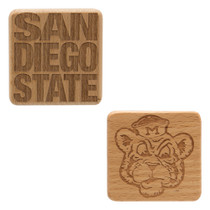 "2.5"" Square Wood Magnet"