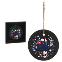 Slate Circle Ornament