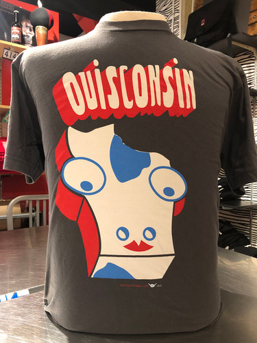 Holy Cow ! Here's a little bit of Ouisconsin history. This spelling was misunderstood as Ouisconsin by French explorers, and over time this version became the French name for both the Wisconsin River and the surrounding lands. English speakers anglicized the spelling to its modern form when they began to arrive in greater numbers during the early 19th Century. The current spelling was made official by the legislature of Wisconsin Territory in 1845. Oh those French. Anyway, moooo to you.