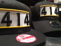 414 Hat Black Flat Bill New Era Snap Back