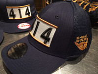 414 Milwaukee Navy New Era hat flex
