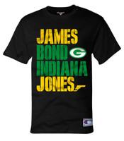 James Bond Indiana Jones (black shirt).