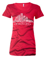 Red Milwaukee Skyline Women