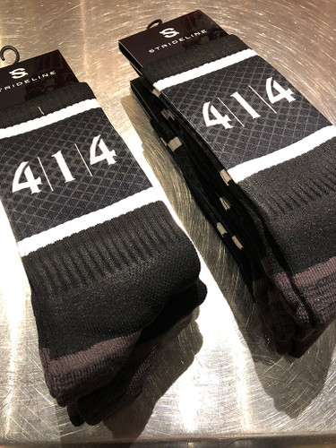 414 Milwaukee socks black crew