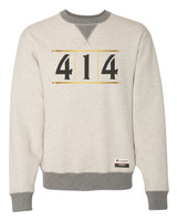 414 Gold White and Cream sweatshirt