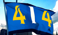 414 Milwaukee Baseball Flag