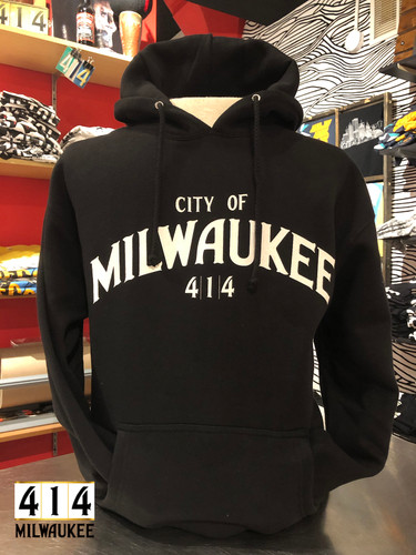 In honor of the City of Milwaukee, the official 414 Milwaukee hoodie.