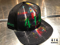 Introducing the 414 City Edition Hat v1.0. With metallic green 414 from panel embroidery, this hat will put you in the forefront of fashion. Back panel construction of breathable wicked mesh for airflow. Front panel Milwaukee city skyline detail.