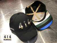 414 Black Rainbow hat