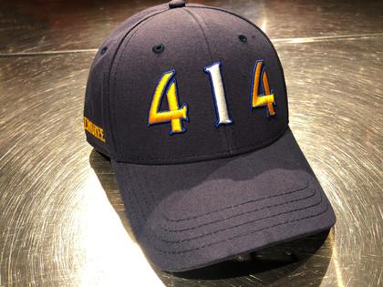 414 Milwaukee navy area code hat