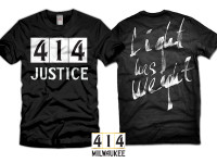 414 Justice black t-shirt