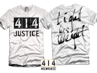 414 Justice white t-shirt