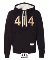 414 embroidered black hoodie