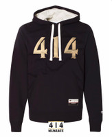 414 embroidered black hoodie