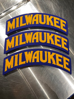 Milwaukee Wool Patch Blue and Gold