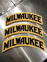 Milwaukee Wool Patch Black and Cream
