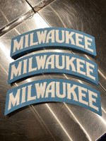 Milwaukee Wool Patch White and sky blue