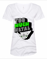 Women's relaxed Too Much Metal checkerboard t-shirt