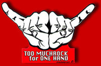 Too Much Rock for One Hand Sticker