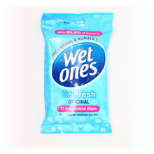 Wet Ones Be Fresh Original Antibacterial Travel Wipes 12s