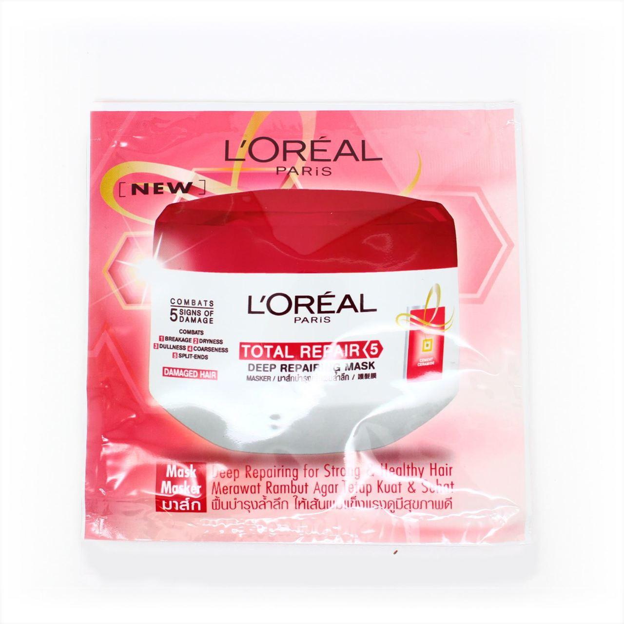 Loreal Total Repair Deep Repairing Hair Mask Sachet 12ml Go Tiny