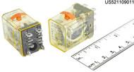 RH2BULCAC110120 IDEC RELAY PLUG-IN 2PDT 120VAC 10A W/B & L