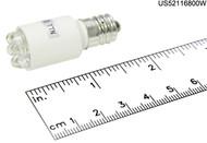 LED-6S6-120-WHITE LAMP CAND BASE 6S6 120V LED WHITE