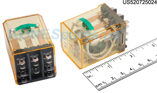 RR3BULCDC24V IDEC RELAY PLUG-IN 10A 3PDT 24VDC W/B&L SILVE ... on