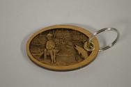 3D Fishing Boy Key Ring