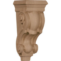"3 1/2""W x 3""D x 7""H Small Traditional Corbel, Cherry"