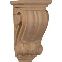 "3 1/2""W x 4""D x 7""H Small Classical Corbel, Red Oak"