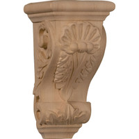 "3 1/2""W x 4""D x 7""H Small Shell Corbel, Cherry"
