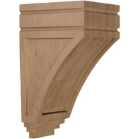 "5""W x 6""D x 10 1/2""H Medium San Juan Wood Corbel, Red Oak"