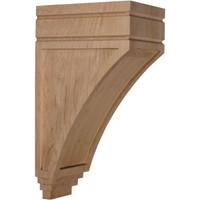 "5""W x 7 3/4""D x 14""H Large San Juan Wood Corbel, Alder"