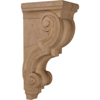 """5""""W x 6 3/4""""D x 14""""H Large Traditional Wood Corbel, Cherry"""