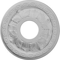 """11 3/8""""OD x 3 5/8""""ID x 1 1/8""""P Leaf Ceiling Medallion"""