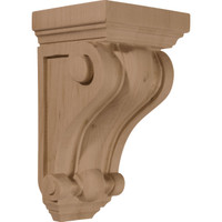 "4""W x 4""D x 7 1/2""H Devon Traditional Wood Corbel, Rubberwood"