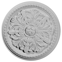 "16 7/8""OD x 1 1/2""P x 3""C Swindon Ceiling Medallion"