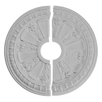 "17 5/8""OD x 3 5/8""ID x 7/8""P Raymond Ceiling Medallion, Two Piece"