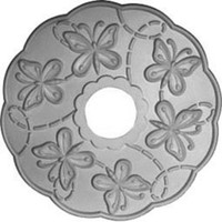 "17 7/8""OD x 3 7/8""ID x 1""P Terrones Butterfly Ceiling Medallion"