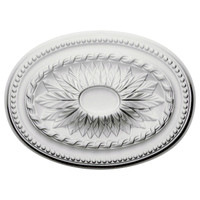 "18 1/2""W x 13 1/2""H x 1 7/8""P Saverne Ceiling Medallion"