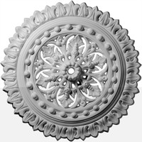 "18 1/2""OD x 1 1/8""ID x 1 1/2""P Sellek Ceiling Medallion"