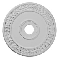 "21 1/8""OD x 3 5/8""ID x 7/8""P Wreath Ceiling Medallion (Fits Canopies up to 6"")"