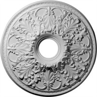 "23 7/8""OD x 4 7/8""ID Ashley Ceiling Medallion (Fits Canopies up to 5 1/2"")"