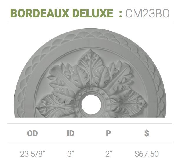 Ceiling Medallion Cm23bo Bordeaux Deluxe