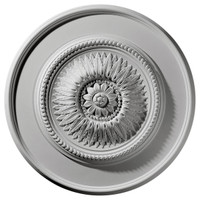 "23 1/2""OD x 2 3/4""P Floral Ceiling Medallion"